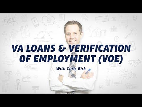 Verification Of Employment (VOE) For VA Loans