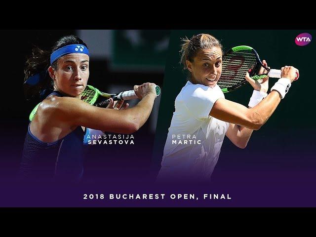 Anastasija Sevastova vs. Petra Martic | 2018 Bucharest Open Final | WTA Highlights