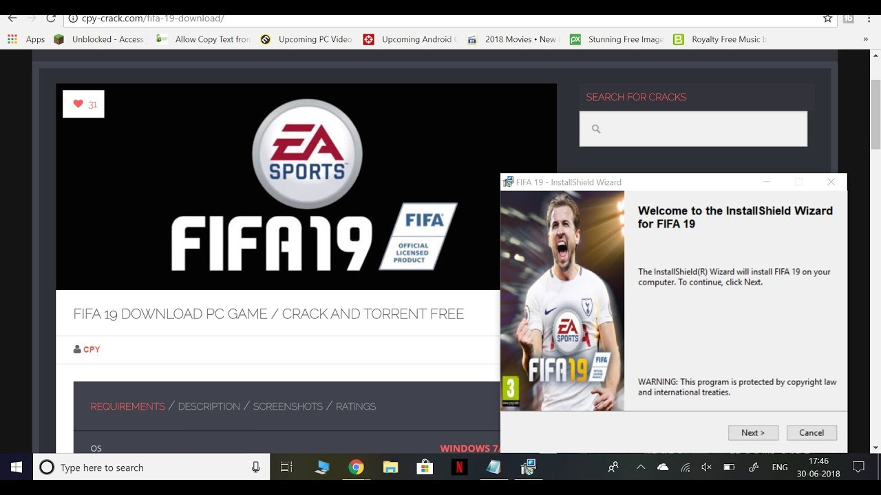 Official FIFA 19 CPY Crack With Proof for PC- 100% Working! Free Download