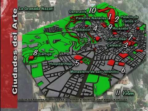 Turismo Granada. Mapa interactivo. Ciudades del Arte