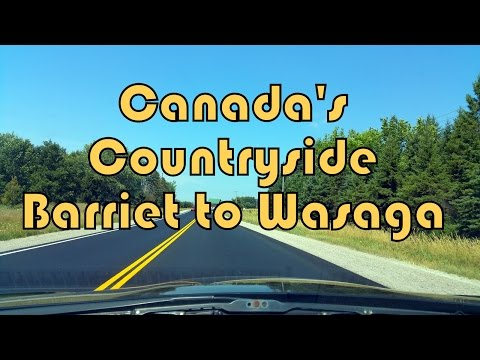 Scenic Route - Countryside Drive North of Barrie to Wasaga Beach Town, Ontario, Canada