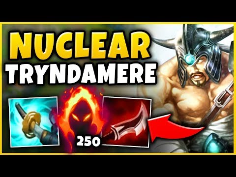 NUCLEAR ONE-SHOT TRYNDAMERE! 100% INSTANT ONE-SHOT WITH ONE AUTO (BROKEN) - League of Legends