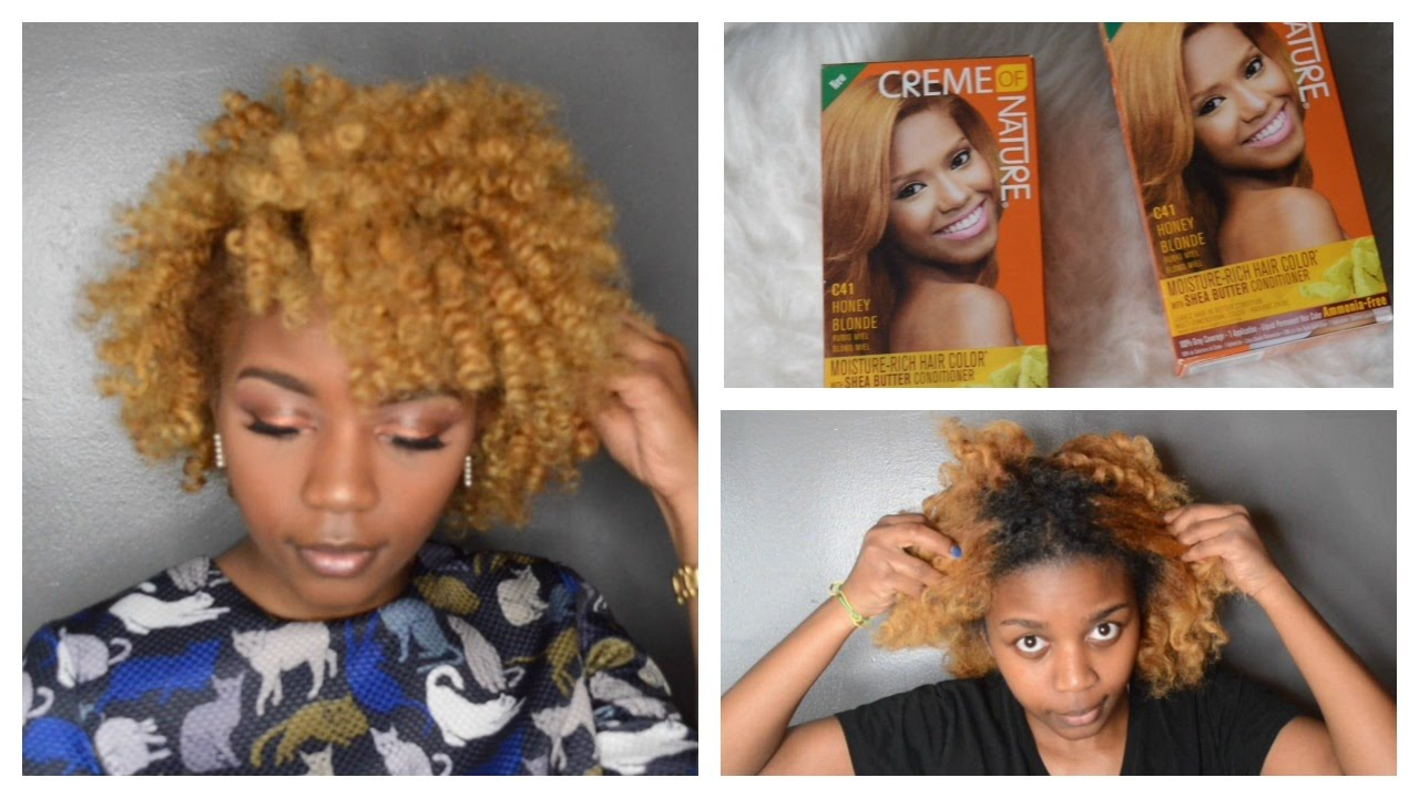 Black To Blonde Natural Hair Creme Of Nature Hair Color Youtube