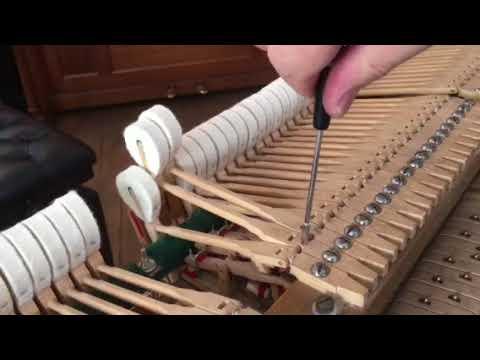 Регулировка винта абник , механика рояля Блютнер