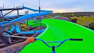 BMX RIDING AT INSANE ABANDONED WATERPARK FRANCE!