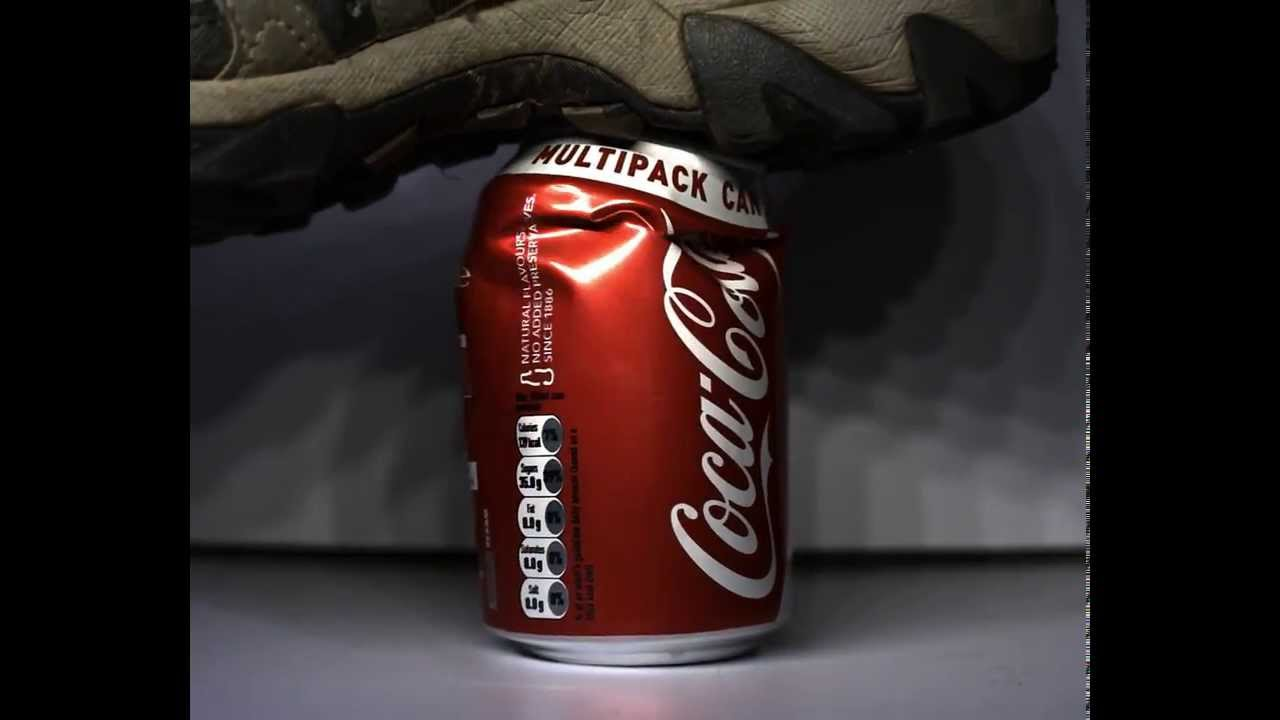 Coke Can Being Crushed At 3750fps Youtube