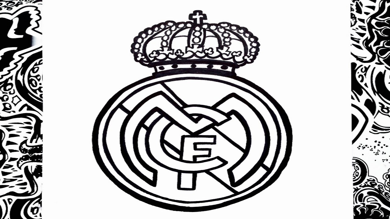 Como dibujar el escudo del real Madrid paso a paso | how to draw ...