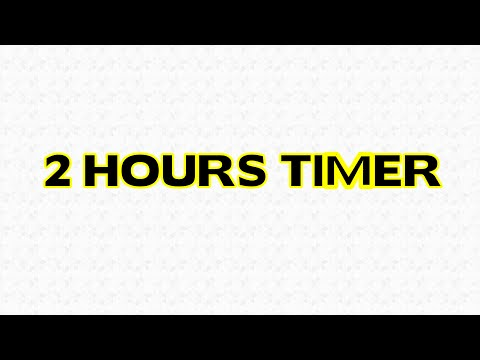 2 Hours Countdown Timer Alarm Clock