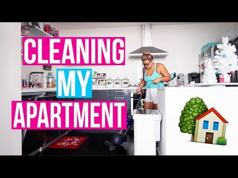CLEAN MY APARTMENT WITH ME!! Vlogmas Day 10!