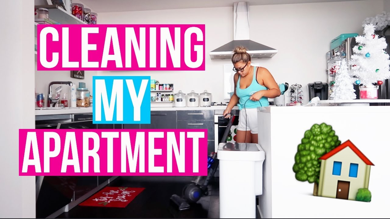 CLEAN MY APARTMENT WITH ME!! Vlogmas Day 10! - YouTube