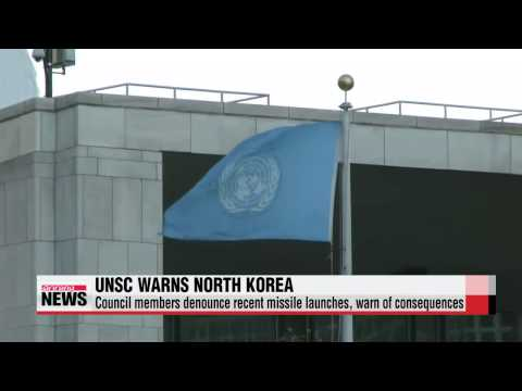 UN Security Council warns North Korea about missile tests