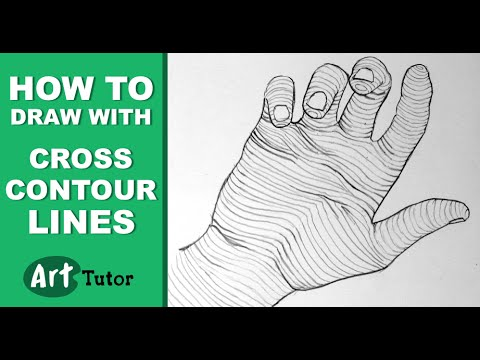 How to draw with cross contour lines youtube