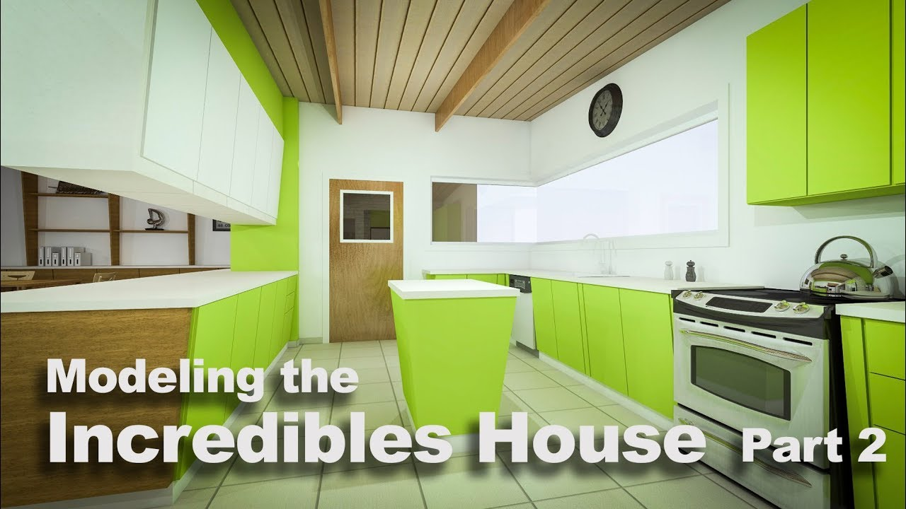 Modeling Pixars The Incredibles House Part 4 Youtube