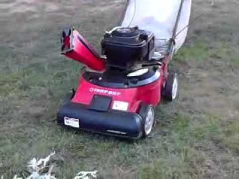 Troy Bilt Vac Ing Up Leaves