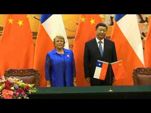 Bachelet sella su apoyo al plan global de conectividad de China
