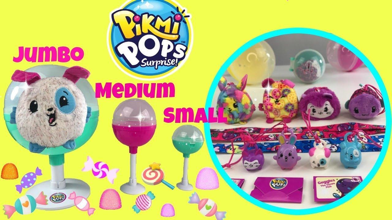 Pikmi Pops Jumbo Vs Medium Vs Small New Scented Surprise