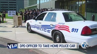 Detroit Police Department officer to take home police car