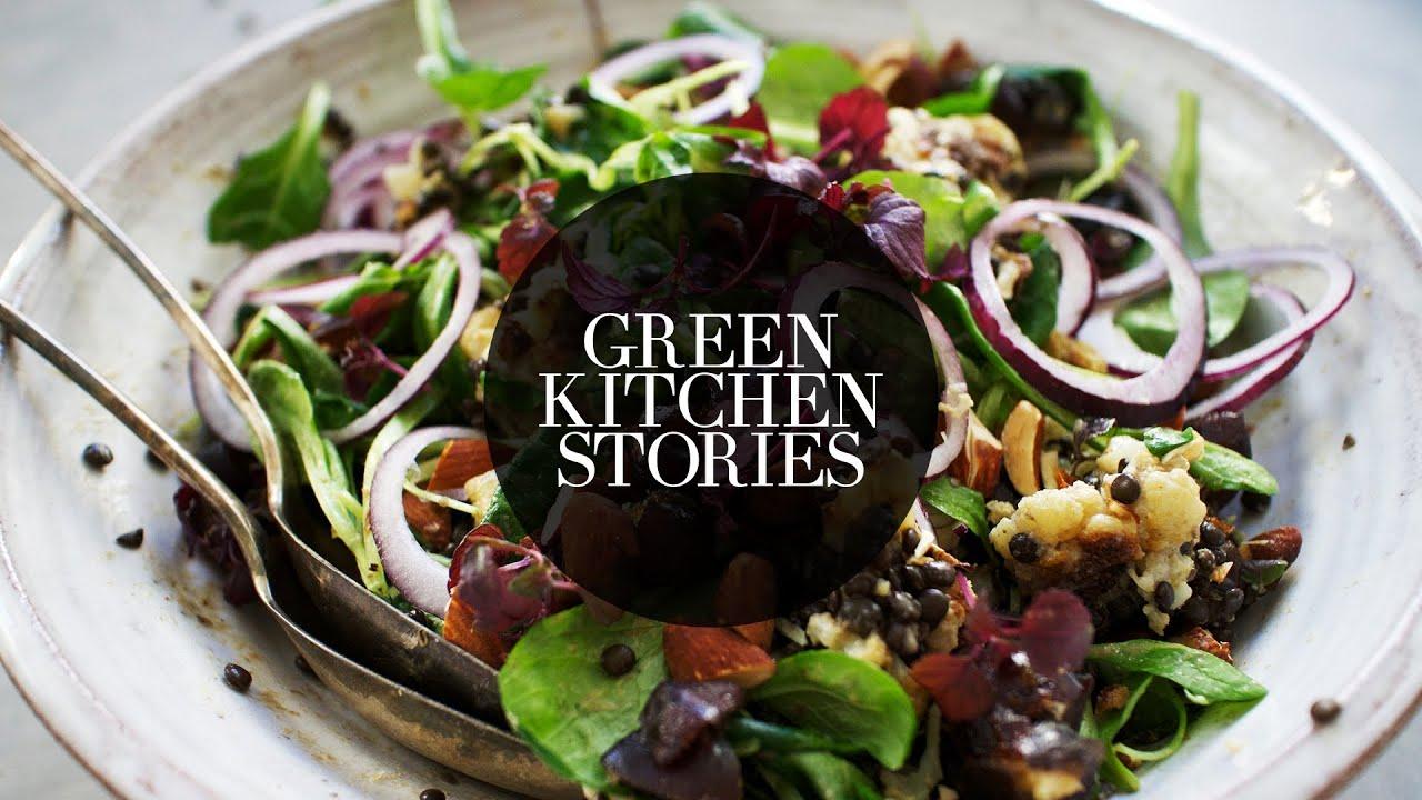 Green Kitchen Stories Cookbook Roasted Cauliflower With Dates Lentils Green Kitchen Stories