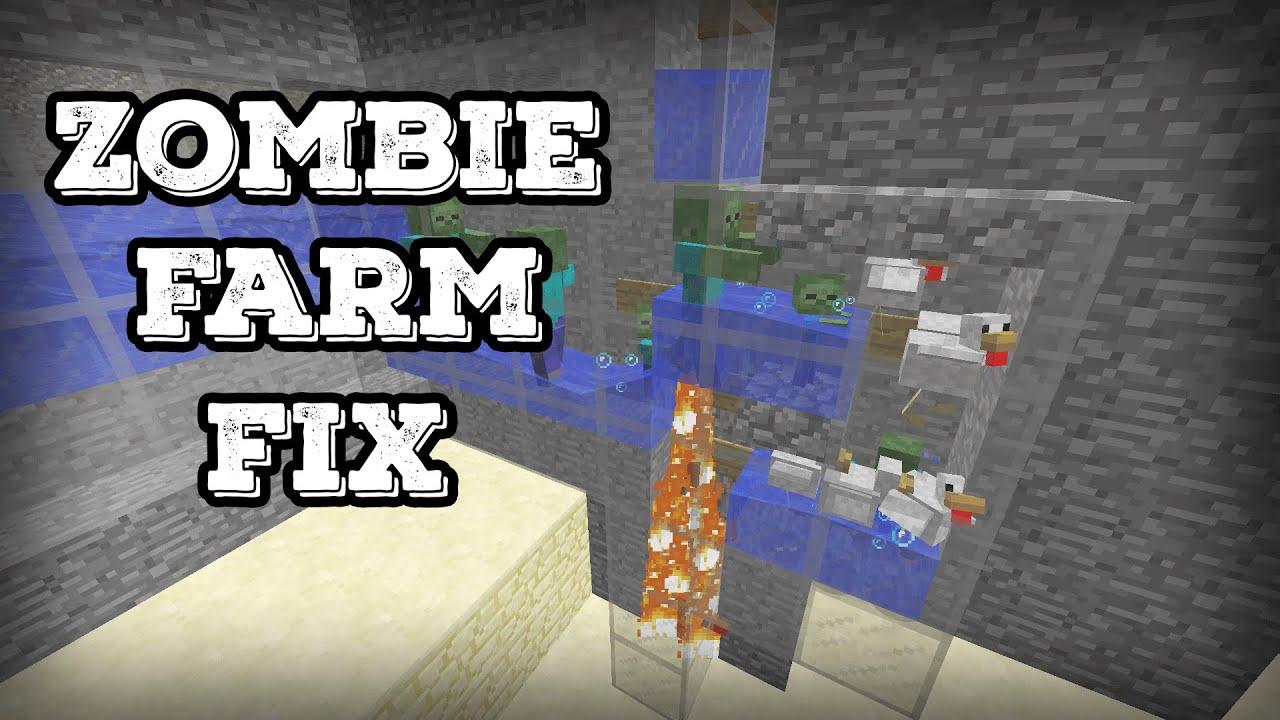Minecraft Tutorial Zombie Farm Fix Baby Zombie And