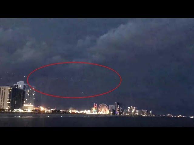 Graban un enorme OVNI en una playa de Carolina del Sur durante una tormenta eléctrica