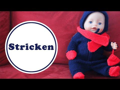 Puppen Overall stricken für Baby Born | kostenlose Anleitung