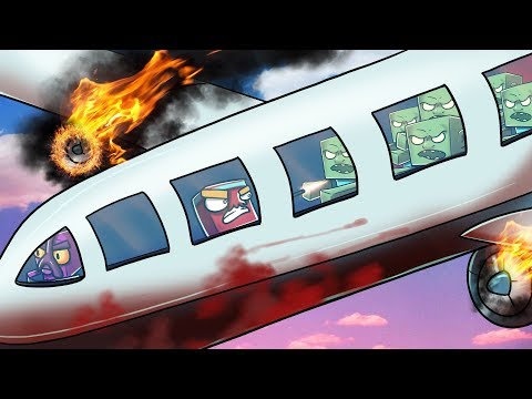 Minecraft   The Apocalypse - ZOMBIES SURPRISE ATTACK THE PLANE! #36