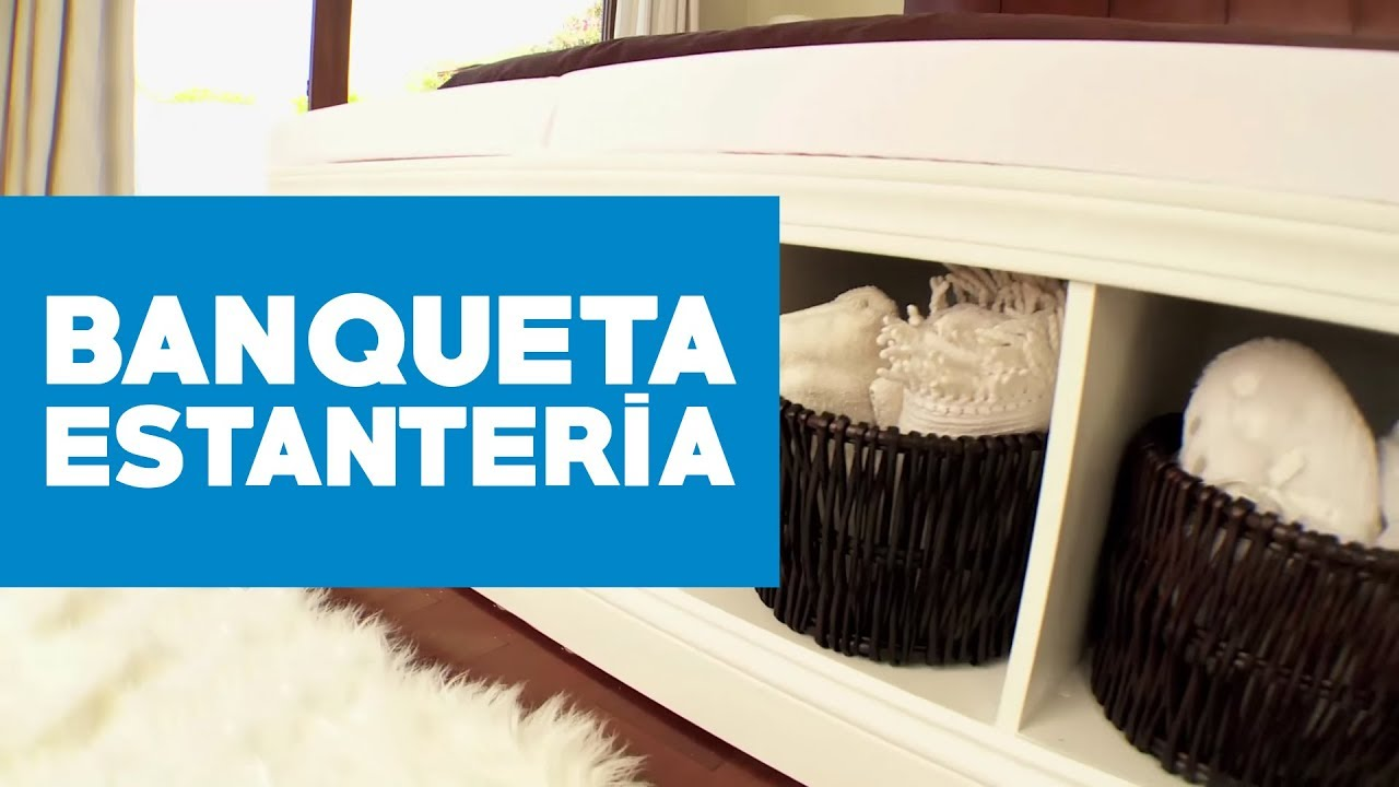 C mo construir una banqueta estanter a de cama youtube for Mueble pie de cama