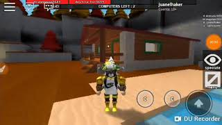 Playing a game of roblox that has a hammer