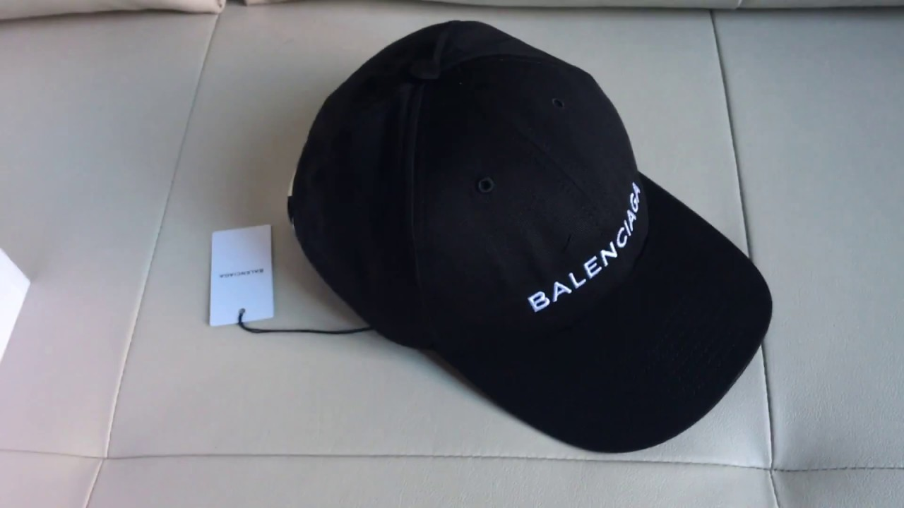 6828b2e1cfa Balenciaga baseball cap unboxing - YouTube