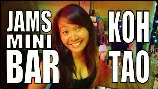 "Koh Tao Night Life Sairee Beach  ""Jams Mini Bar"" Thailand."