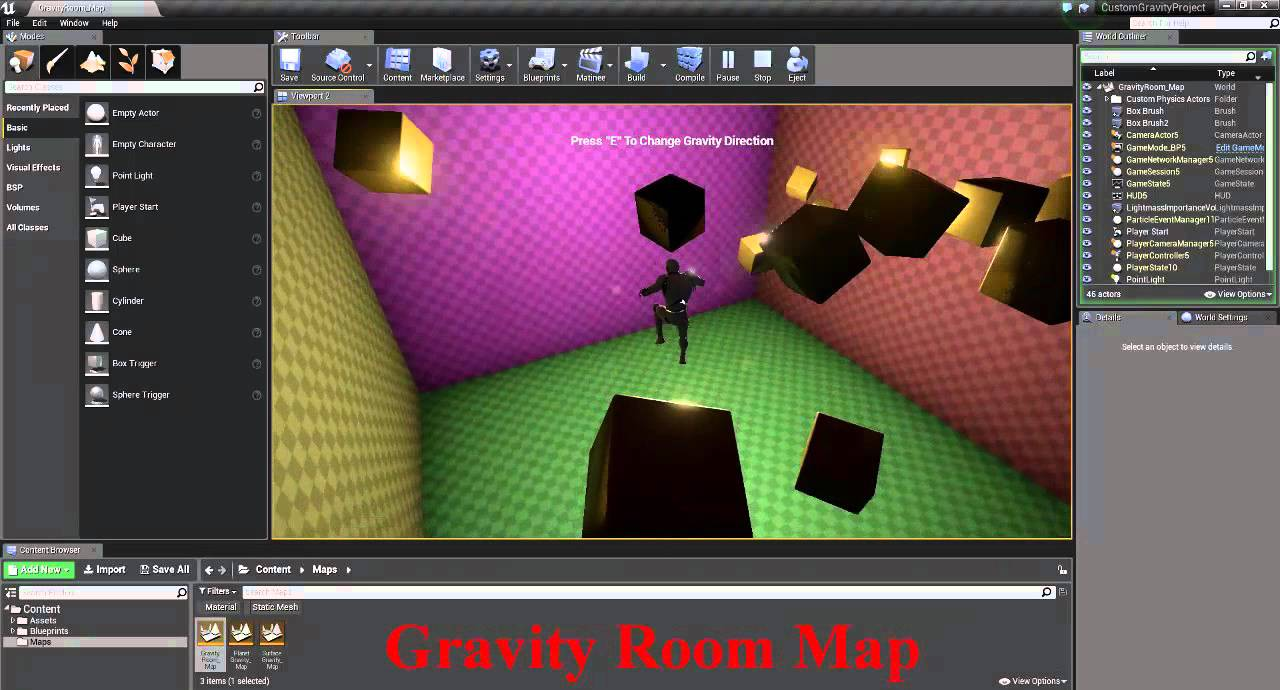 Unreal Engine 4 : Custom Gravity Plugin