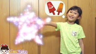 라임의 마법 냉장고? 집에서 아이스크림 먹는 방법! 마법 문 순간이동 놀이 Kids Magic hand and magic door story