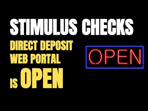 IRS Direct Deposit Web Portal Is Open