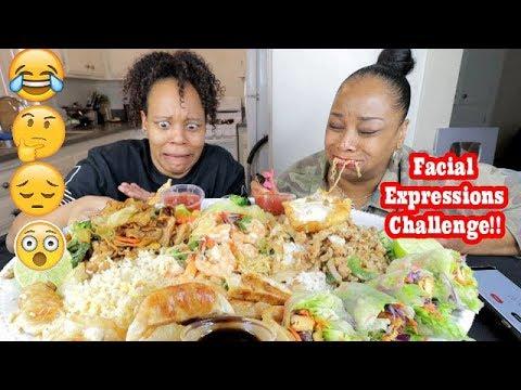 THAI FOOD (FACIAL EXPRESSIONS CHALLENGE) MUKBANG!