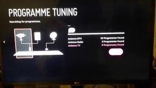 How to setup the digital TV channels on TV LG 32LF650V