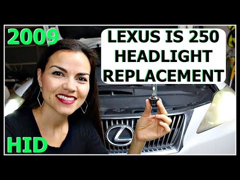 How to Replace Lexus IS250 Headlight Low Beam Bulb 2009