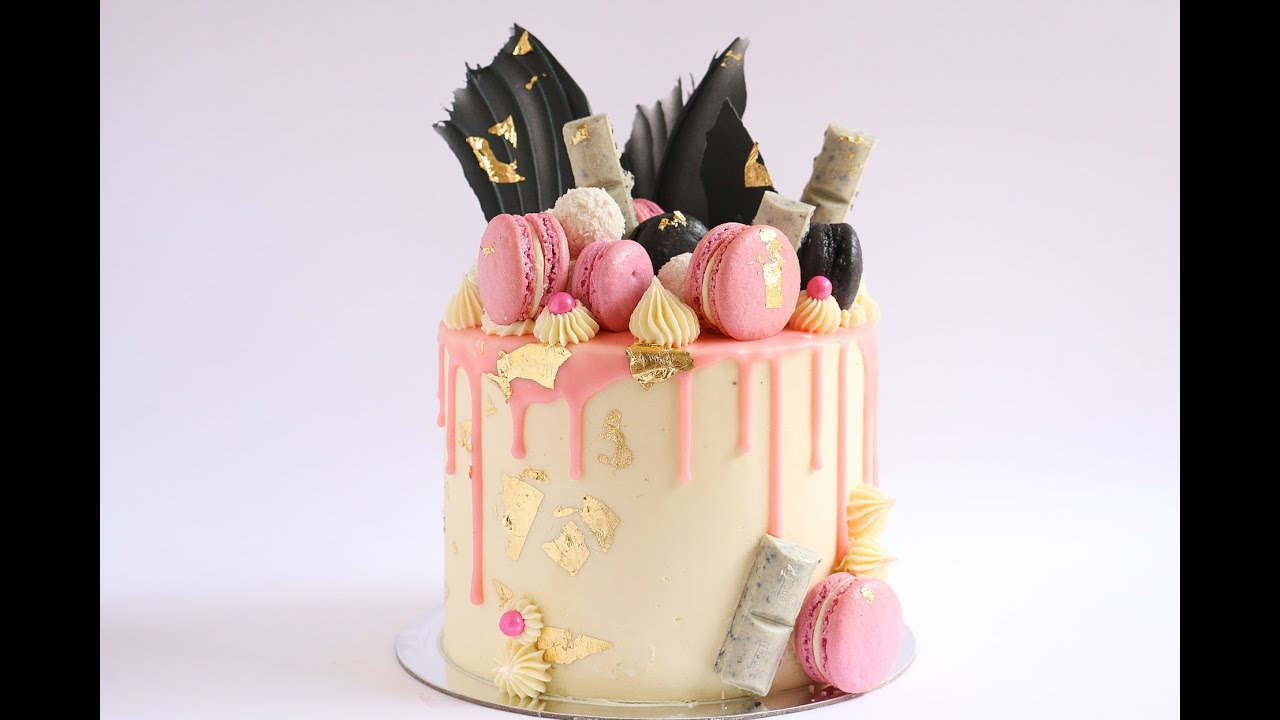 Loaded Pink Gold And Black Cake Drip Tutorial Rosies Dessert Spot