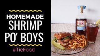 HOMEMADE SHRIMP PO' BOY SANDWICH | #DIY #HOMECOOKING #TIEFOOD