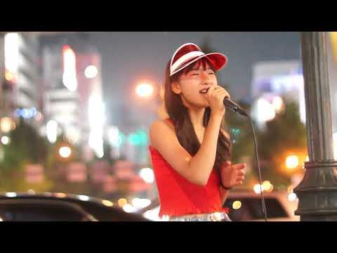 下北姫菜「I LOVE YOU (クリス・ハート)」2018/07/16 なんば駅 千日前通