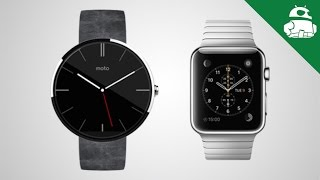 Repeat youtube video Apple Watch vs. Android Wear - A Quick Look