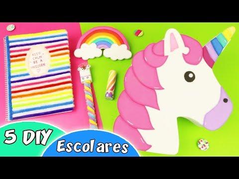 5 Diy Unicornio Utiles Escolares Manualidades Apasos