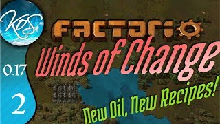 Factorio 0.17 Ep 2: SCARY BITERS / STARTING SMELTING - Winds of Change - Tutorial Let's Play