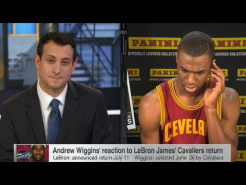 Andrew Wiggins Awkward Interview After Being Traded To The Timberwolves