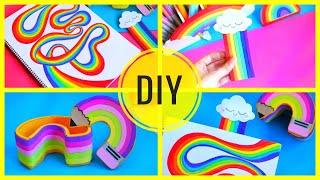 DIY RAINBOW SCHOOL SUPPLIES🌈 For Back To School