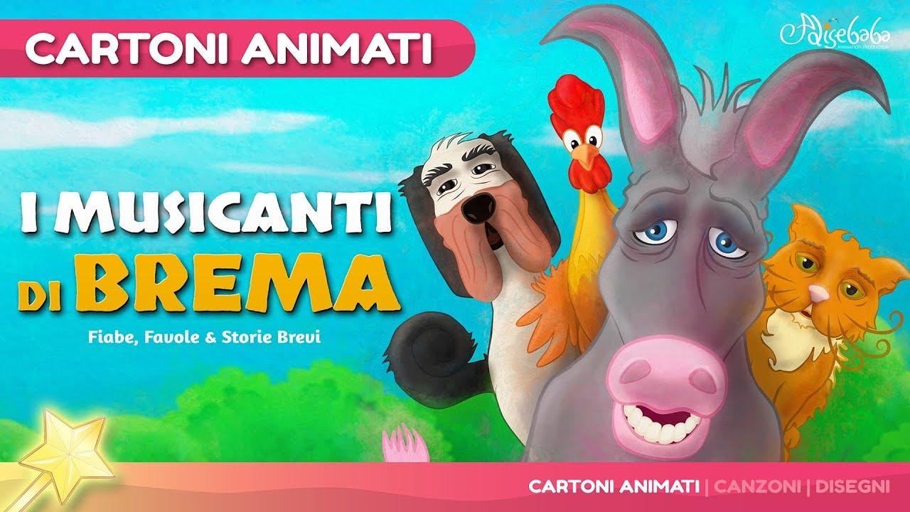 I musicanti di brema storie per bambini cartoni animati