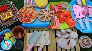 ละครสั้น เจ้ปิ้งย่างทะเลเผา กุ้งเผา ปลาเผา น้ำจิ้มซีฟู้ดแซบๆ ของเล่นทำอาหาร Play Doh ของเล่นไม้