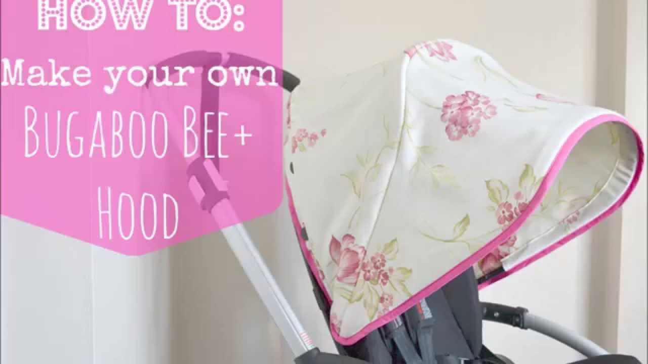 How to make your own bugaboo bee hood canopy youtube for How to create a canopy