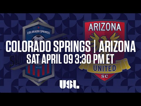 WATCH LIVE: Colorado Springs Switchbacks FC vs Arizona United SC 4-09-16