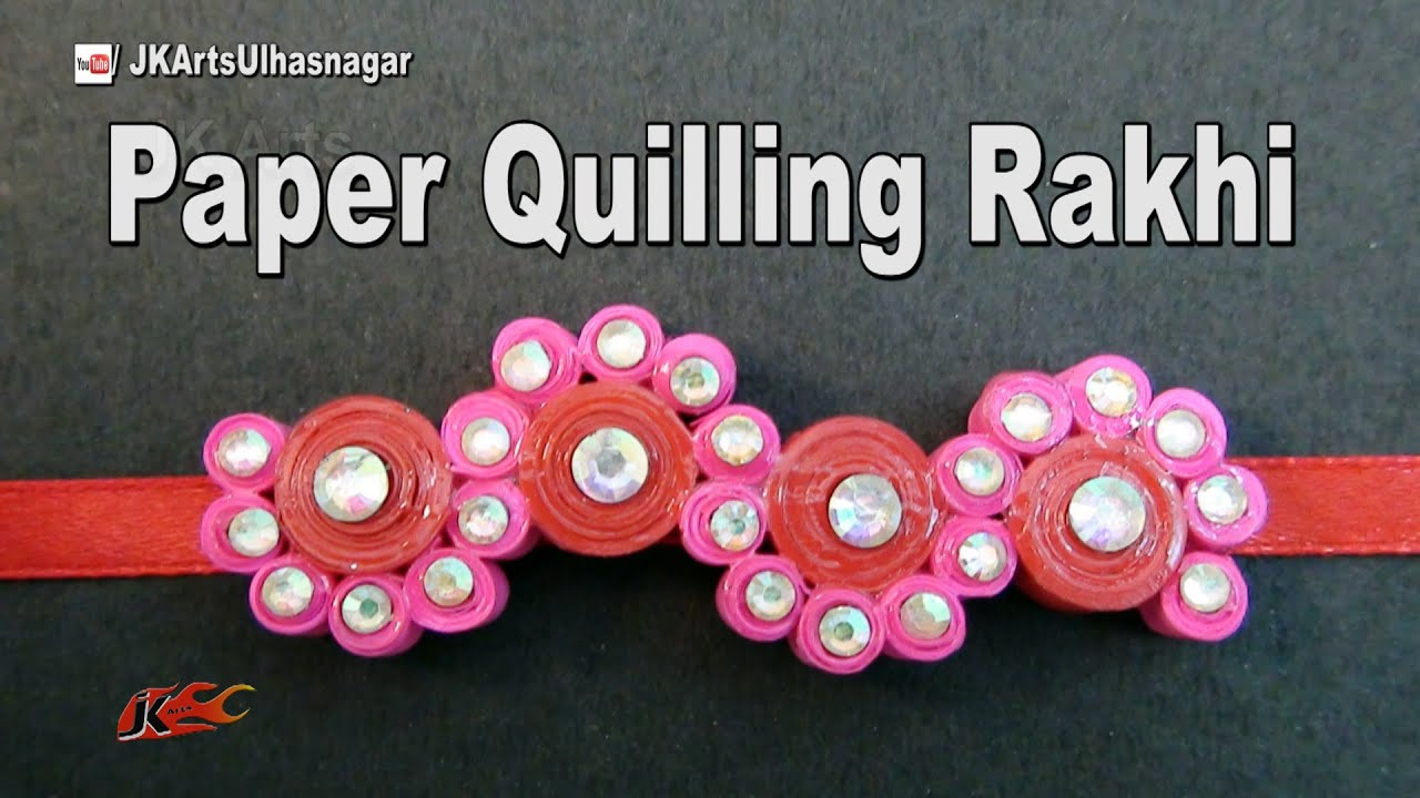 Papercraft DIY Paper Quilling Rakhi for Raksha Bandhan | How to make | JK Arts 990