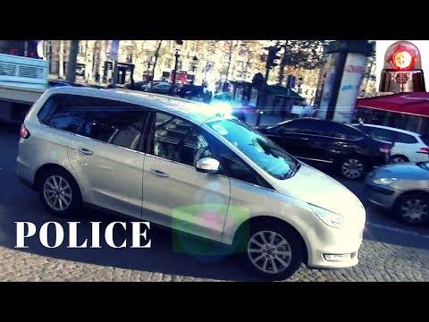 Unmarked Police Cars Responding in Paris // Voitures de police banalisées Compilation
